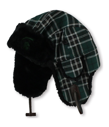 Top of the World Mens Michigan State Plaid Trapper Hat green One Size