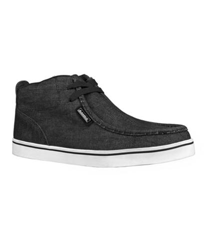 Lugz Mens Strider Denim Sneakers blackwhite 7.5