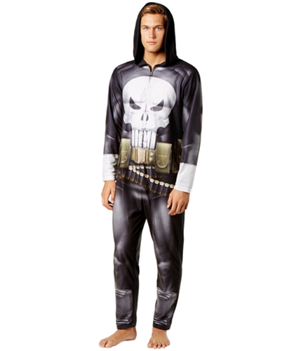 Briefly Stated Mens Punisher Complete Costume black S
