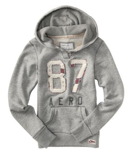 Aeropostale Womens # 87 Hoodie Sweatshirt gray L