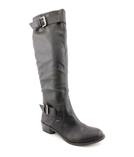 Style & Co. Womens Wide Calf Moto Boots
