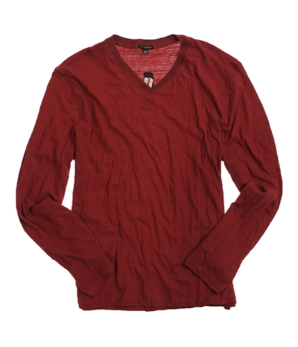 Sons of Intrigue Mens Ls V-neck Basic T-Shirt black L