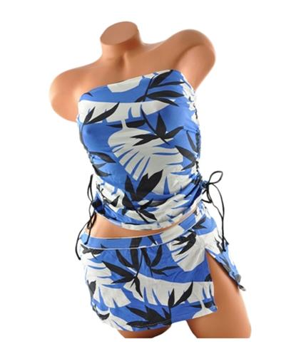 Tommy Bahama Womens Floral Skirt 2 Piece Tankini blackjuniper XS