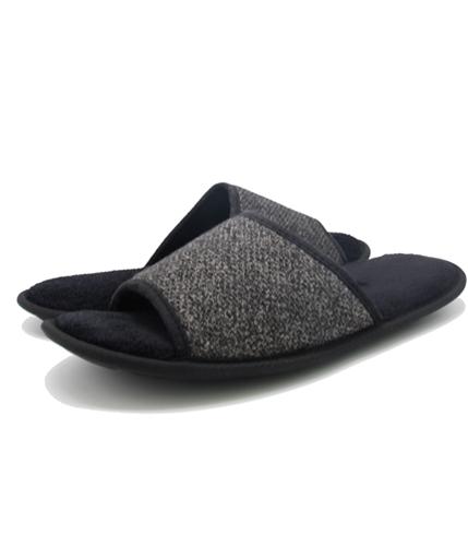 bar III Mens Heathered Slide Slippers black M