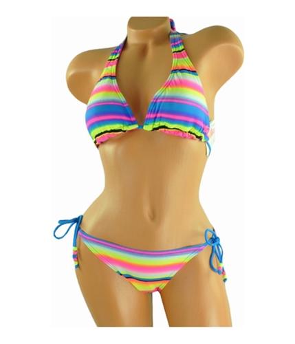 Billabong Womens Reversible Beaded Side-tie 2 Piece Bikini npnpink S