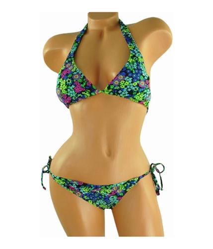 Billabong Womens Small Floral Print 2 Piece Bikini black S