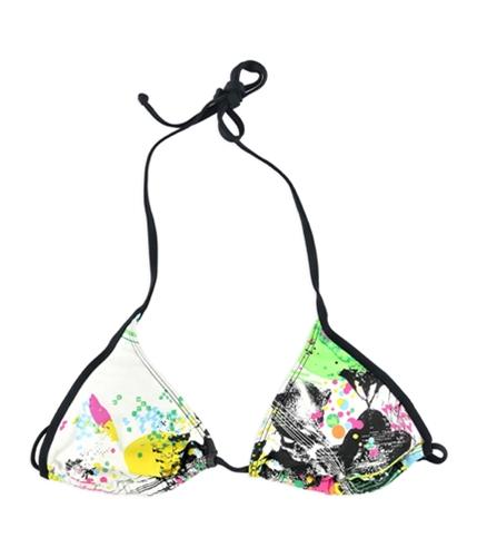 Local Motion Womens Geo-Color Bikini Swim Top mul XS
