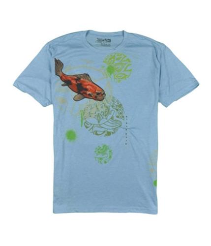 Quiksilver Mens Skeleton Fish Graphic T-Shirt lightblue S