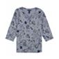 Karen Scott Womens Printed 3/4 Sleeve Henley Shirt