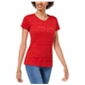 Maison Jules Womens Ruby Red Graphic T-Shirt
