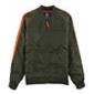 American Rag Mens Stripe Bomber Jacket