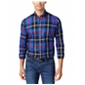 Club Room Mens Classic Fit Oakley Plaid Button Up Shirt