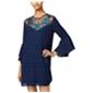 City Studio Womens Bell Sleeve A-Line Dress