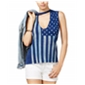 Project Social T Womens Stars Stripes Stamped Tank Top