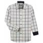 Alfani Mens Contrast Grid Button Up Shirt