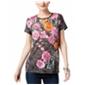 I-N-C Womens Floral Basic T-Shirt