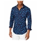 Tommy Hilfiger Mens Pineapple Critter Button Up Shirt