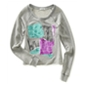 Aeropostale Womens Love Ny Screenprint Cropped Sweatshirt
