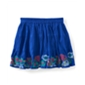Aeropostale Womens Floral Smocked Embroidered Knit Tiered Skirt