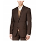 Bar Iii Mens Slim Fitting Check Two Button Blazer Jacket