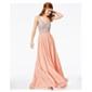 City Studio Womens Sequins Gown Dress