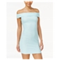 B. Darlin Womens Textured Off-The-Shoulder Bodycon Dress
