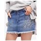 Free People Womens Jean Mini Skirt