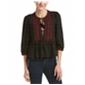 Free People Womens The Wild Life Peasant Blouse