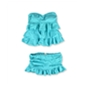 Island Escape Womens Tiered Ruffle Skirtini 2 Piece Bandeau