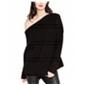 Rachel Roy Womens One Shoulder Knit Sweater