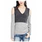 Rachel Roy Womens Cold Shoulder Knit Blouse
