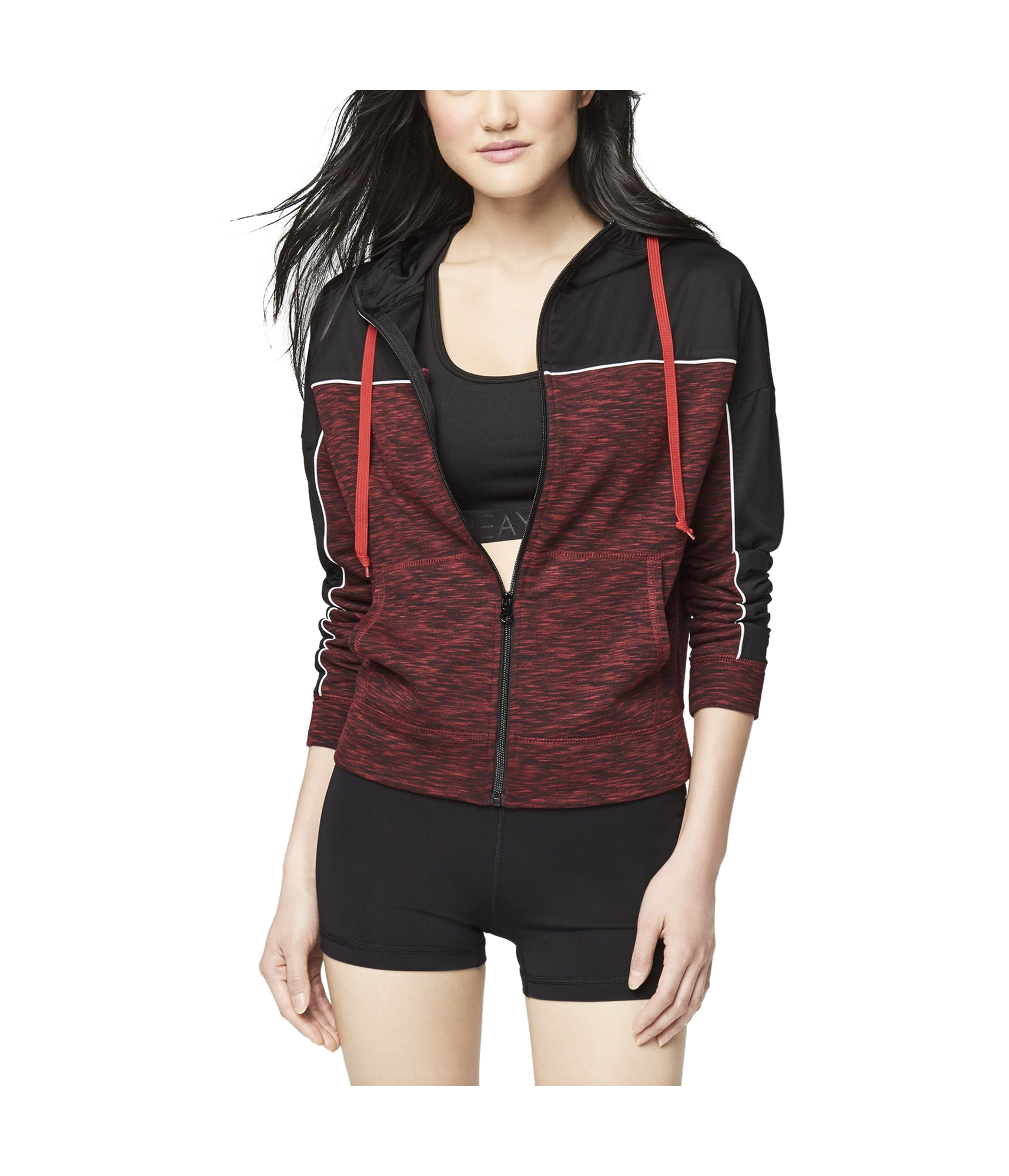 Aeropostale Womens Studded Hoodie Sweatshirt
