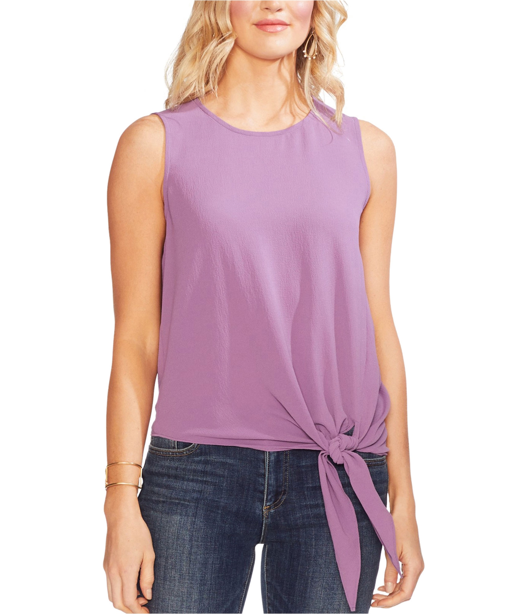Women/'s Tie in the Front Top Lilac Blush Blouse
