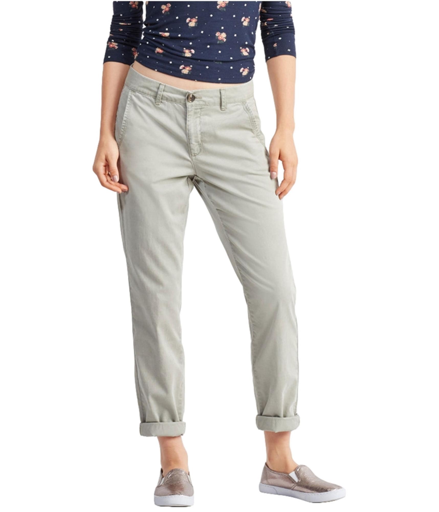 Aeropostale Mujer Chino Informal Pantalones Verde 2 Ebay