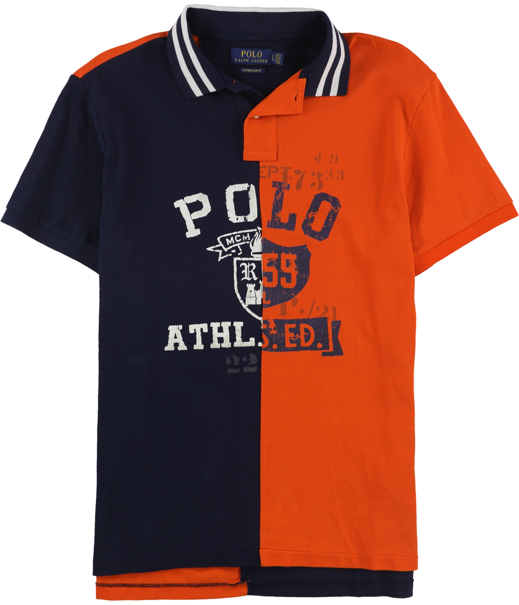 Details about Ralph Lauren Mens Logo Rugby Polo Shirt, Blue, Large